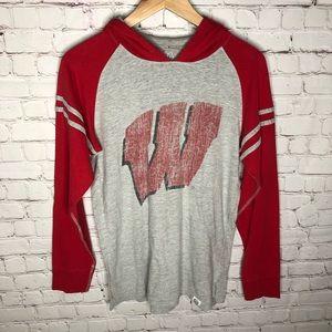 Wes & Willy Wisconsin Badgers Long Sleeve Hoodie